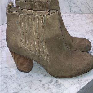 Tan booties by Madden Girl